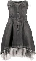 Unravel Project Sweetheart-Neckline Denim Dress