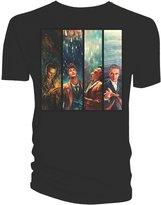 Doctor Who Classic Mens T-Shirt Four Doctors Logo SDCC 2015 L