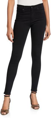 AG Jeans Farrah High-Waist Stretch-Denim Skinny Jeans