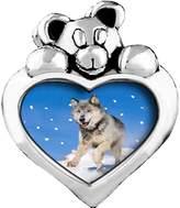 GiftJewelryShop Running Wolf Peridot Crystal August Birthstone I Love You Heart Care Bear Charm Beads Bracelets
