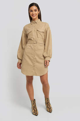 Trendyol Mini Corduroy Belted Dress