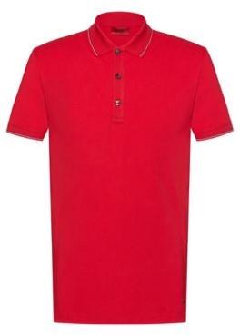 Slim-fit polo shirt in stretch-cotton piqu