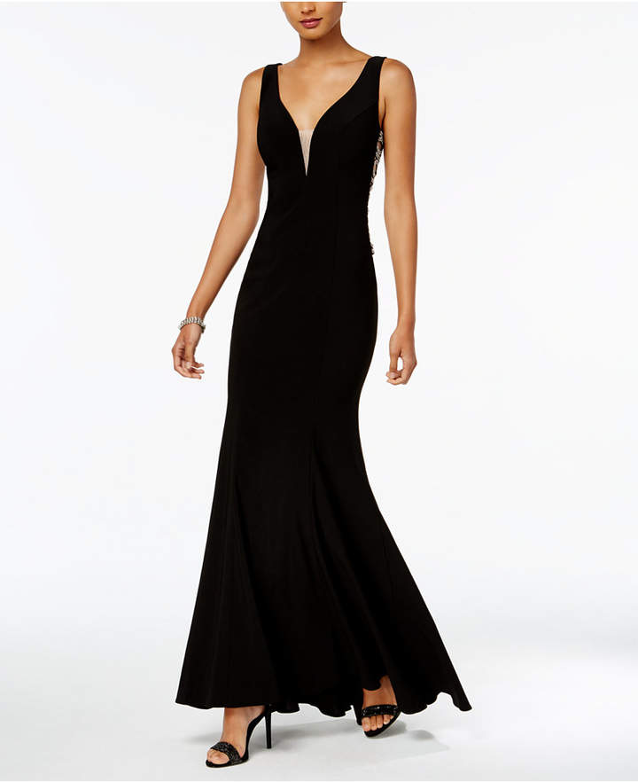 Xscape Evenings Embellished Cutout Gown