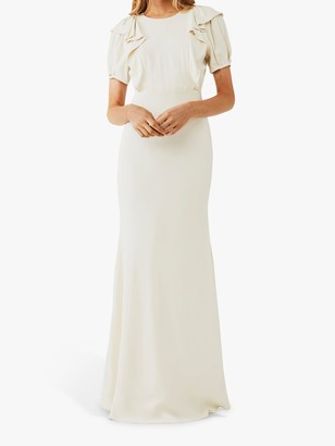 Ghost Delphine Ruffle Wedding Dress, Cloud Dancer