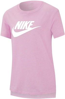 Nike Older Girls Basic Futura T-Shirt - Pink White
