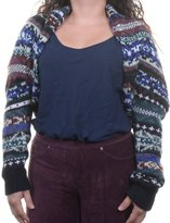 Free People Womens Wool Bolero Shrug Sweater Multi M