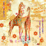 Parvez Taj Giraffes Art Print on Canvas