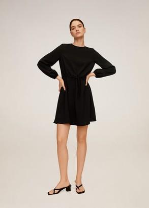 MANGO Drawstring waist dress black - 4 - Women