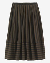 Toast Wide Stripe Cotton Skirt