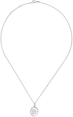 Annoushka 18kt white gold diamond initial B necklace