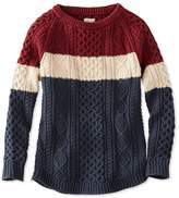 L.L. Bean Signature Cotton Fisherman Tunic Sweater, Colorblock