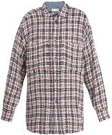 Faith Connexion Oversized checked woven overshirt