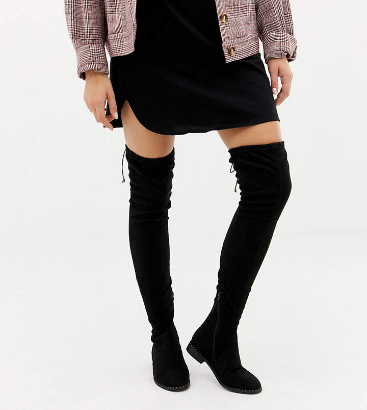 0e88a1cd4b9c Wide Fit Over The Knee Boots - ShopStyle Australia
