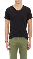 Barneys New York Men's Basic V-Neck T-Shirt-BLACK