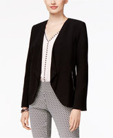 Alfani Petite Open-Front Draped Blazer, Only at Macy's