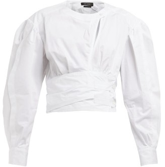 Isabel Marant Cut Out Cotton Top - Womens - White