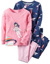 Carter's Girls 4-12 4-pc. Space Pajama Set