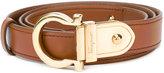 Salvatore Ferragamo contrast Gancio buckle belt - women - Leather/Brass - 80