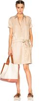 Kenzo Satin Cupro & Linen Blend Dress