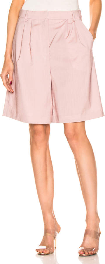 Tibi Pleated Short in Blush | FWRD