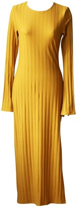 Reformation Yellow Synthetic Dresses