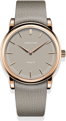Corniche Watches Womens Heritage 36 Rose Gold