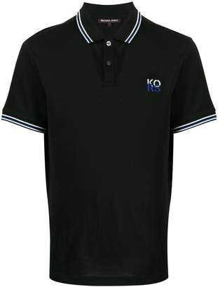 Michael Kors logo embroidered polo shirt