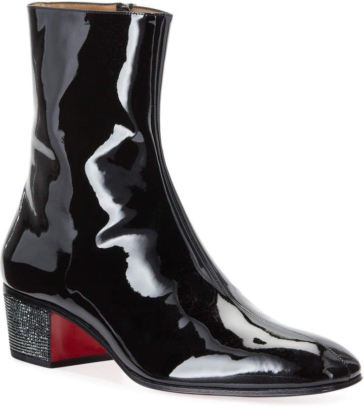 timeless design 7532f 7d176 Men's Palace Crystal Patent Red Sole Boots