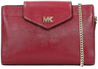 Michael Kors Shoulder Bag In Bordeaux Leather