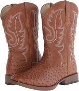 Roper Ostrich Print Square Toe Cowboy Boot
