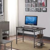 Bell'O Bell'O Farley Umber Oak Desktop, Gunmetal Frame Desk