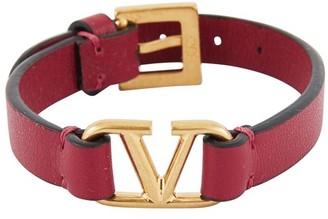 Valentino leather Vlogo bracelet