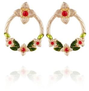 Nanette Lepore Winter Garden Front Facing Hoop Earrings