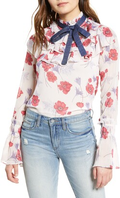 Endless Rose Darling Poppy Layered Ruffle Blouse