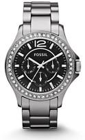 Fossil Riley Multifunction Ceramic Watch – Chrome