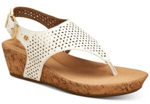 Giani Bernini Fatimaa Memory Foam Thong Wedge Sandals, Created for Macy's Women's Shoes