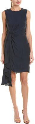 Milly Rachael Silk-Blend Mini Dress