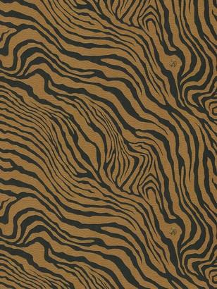 Roberto Cavalli Leather Effect Tiger Print Wallpaper