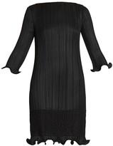 Givenchy Lace-Trim Plisse Dress