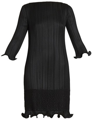 Givenchy Lace-Trim Plisse Dress
