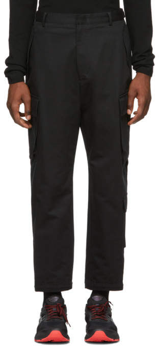 Juun.J Black Canvas Cargo Pants
