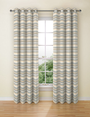 Marks and Spencer Chenille Geometric Eyelet Curtains