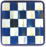 Mackenzie Childs Royal Check Cork Back Coasters Set of 4