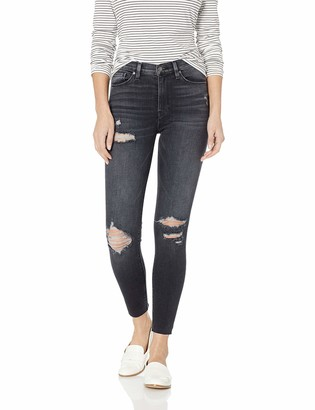 Hudson Women's Barbara HIGH Waist Super Skinny Ankle 5 Pocket Jean