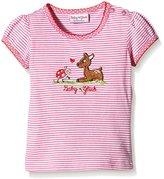 Salt&Pepper SALT AND PEPPER Baby Girls Crew Neck Short Sleeve T-Shirt - Pink - 0-3 Months
