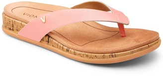 Vionic Leather Toe-Post Sandals - Daniela