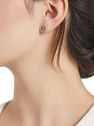 Freida Rothman Two-Tone & Crystal Stud Earrings