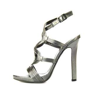 Roberto Cavalli Pewter Strappy Sandal