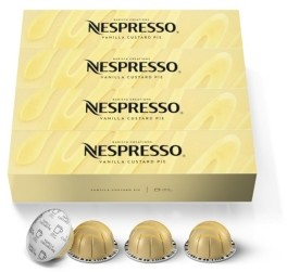Nespresso Capsules VertuoLine, Vanilla Custard Pie, Mild Roast Coffee, 40-Count Coffee Pods