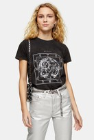 Topshop Womens Charcoal Grey Etoile T-Shirt - Charcoal
